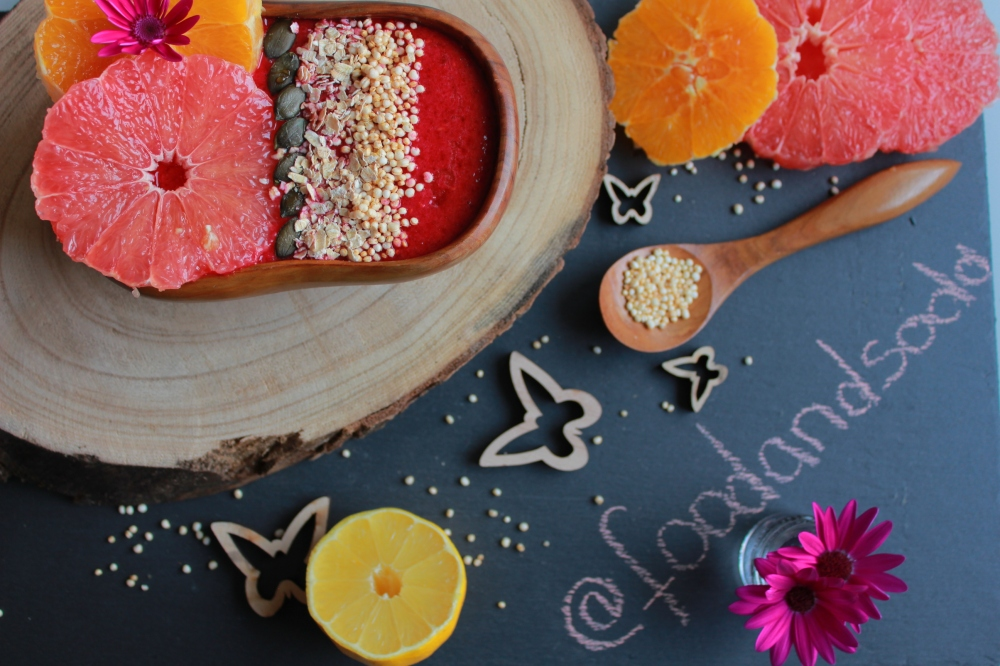 Rote Bete Smoothie Bowl